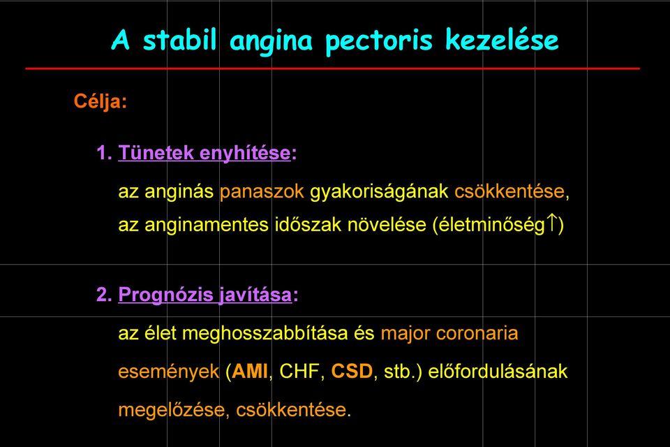 magas vérnyomás ischaemia angina pectoris CHF