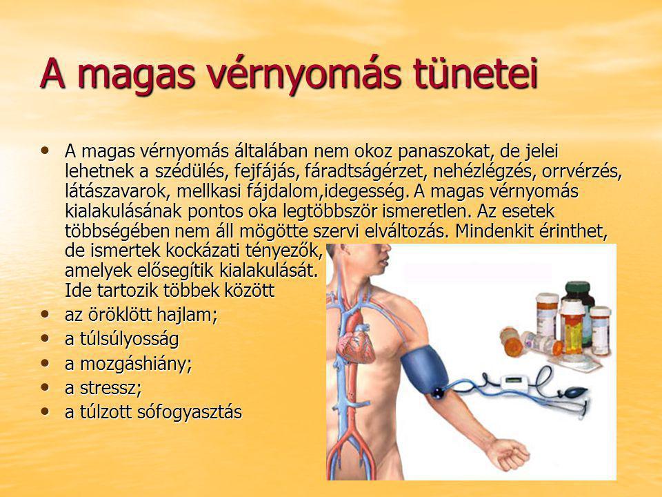 magas vérnyomás 3 tünetek