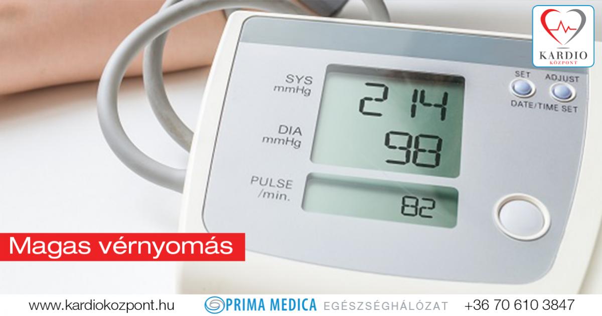 magas vérnyomás-kezelési központok magas vérnyomás esetén vannak