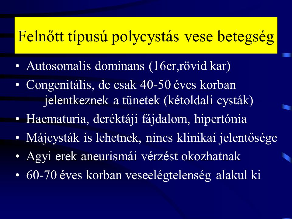 VTEC hipertónia esetén