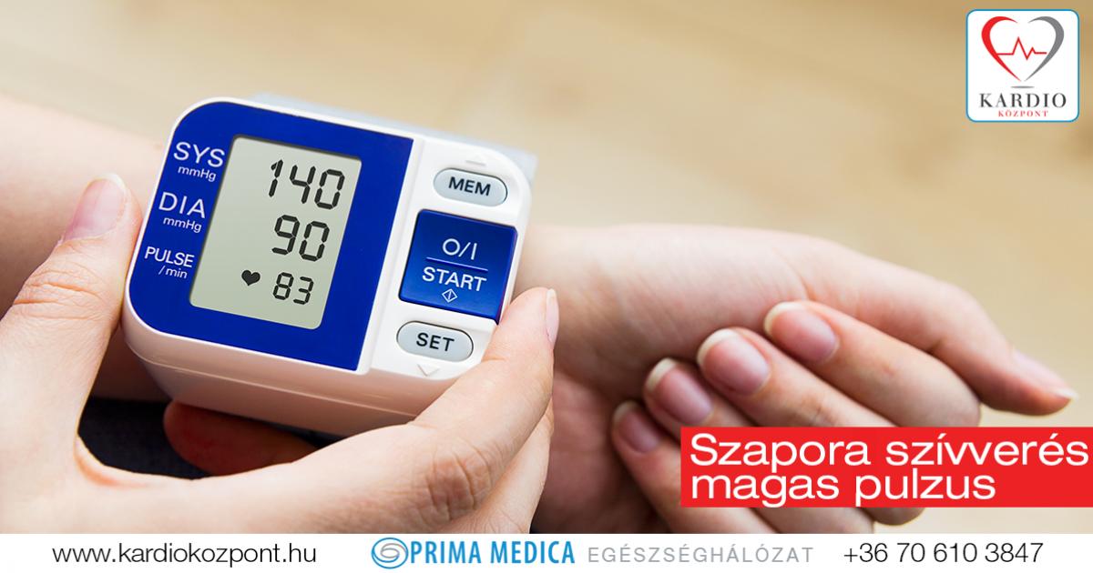 pulzus ritmus hipertóniával magas vérnyomás kezelése 50 éves férfiaknál